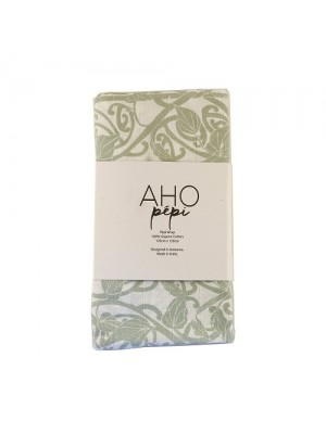 Aho Pepi Muslin Wrap - Kāwai Wrap, Inanga (Greenish-grey)