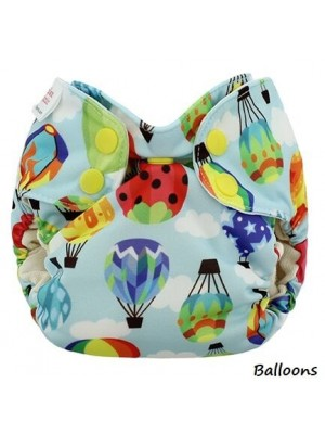 Blueberry Newborn Simplex AIO - Birdseye Cotton