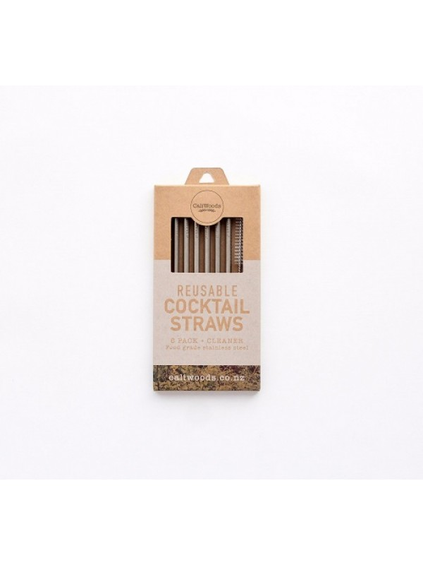 CaliWoods Reusable Cocktail Straws