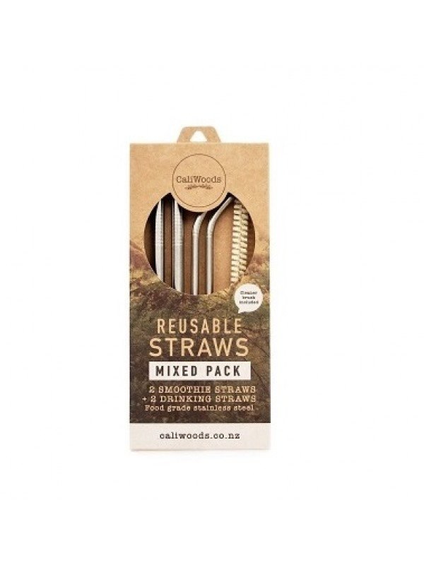 CaliWoods Reusable Straws - Mixed Pack
