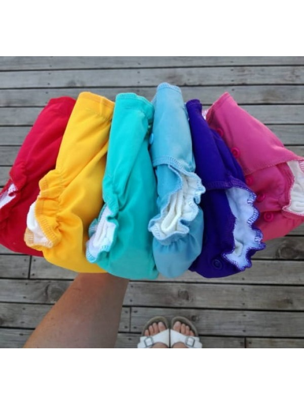 Ecobubs Essentials Newborn Nappy - Rainbow Pack