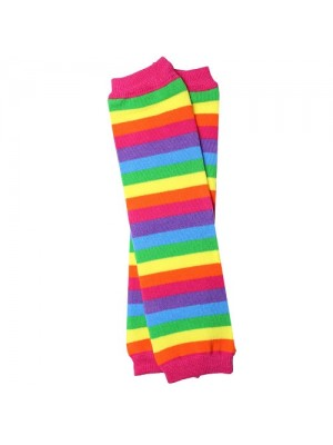 JuDanzy Leg Warmers - Pink Rainbow