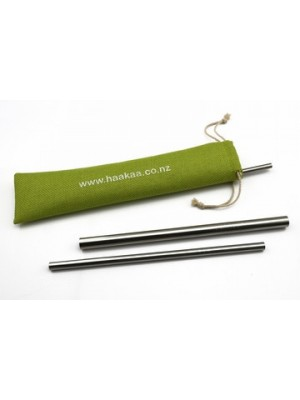 Haakaa Stainless Steel Curved Straws - 3 Pack