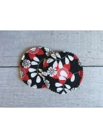 Breast Pads - Black/Red Floral