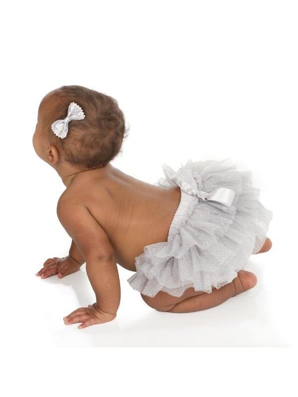 JuDanzy Tutu Nappy Cover - Silver Sparkle