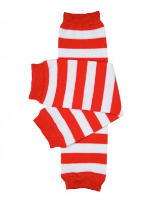 JuDanzy Leg Warmers - Red/White Stripe