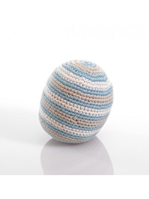 Organic Cotton Stripey Ball Rattle