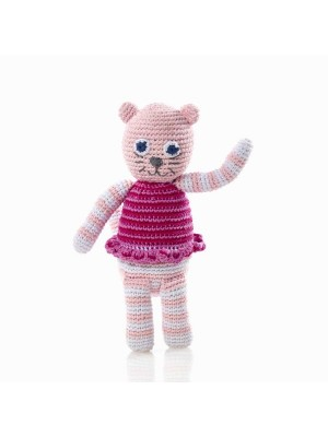 Cat Rattle - Pink Stripes