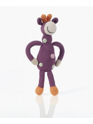 Organic Cotton Giraffe Rattle